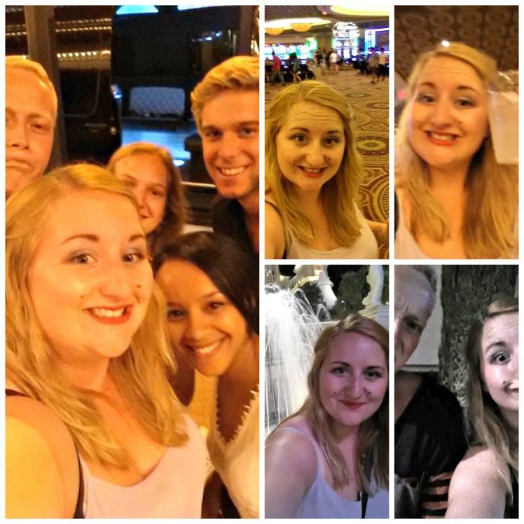Vegas selfie Collage