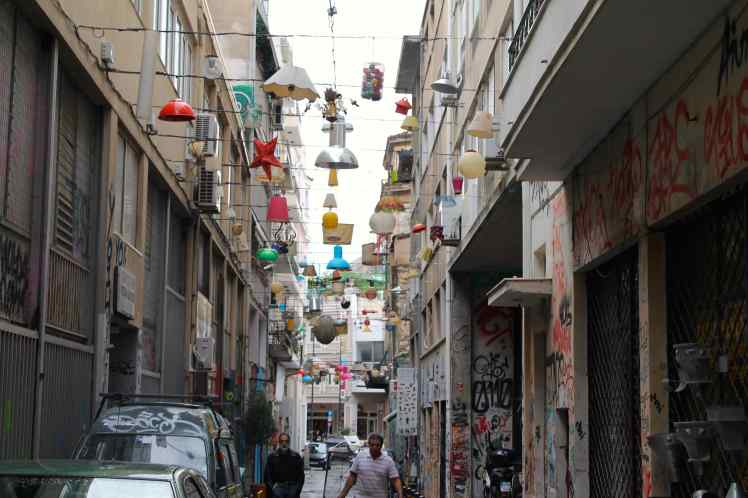Lampshate street athens
