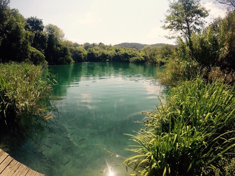 Krka National Park still water